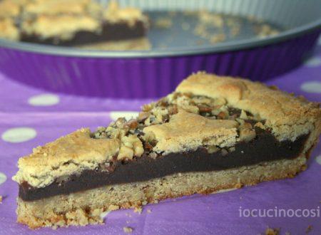 Torta noci e cioccolato fondente | Ricetta golosa