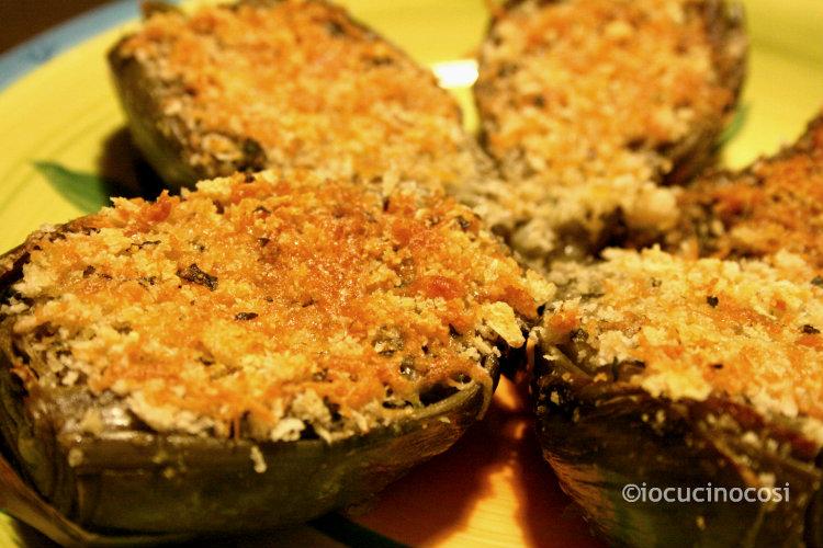 Carciofi gratinati | Ricetta contorno gustoso