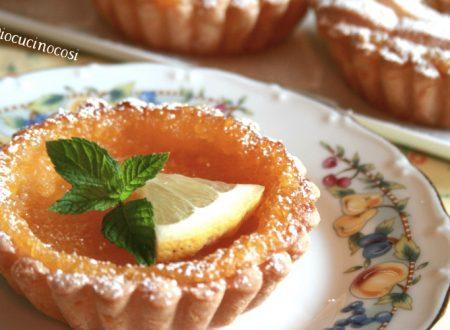 Crostatine al limone – Ricetta dolce