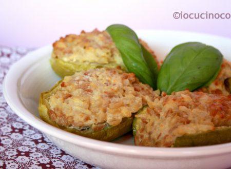Zucchine ripiene vegetariane ai cereali – Ricetta light