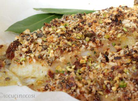 Cernia gratinata con granella di pistacchi – Ricetta secondo di pesce