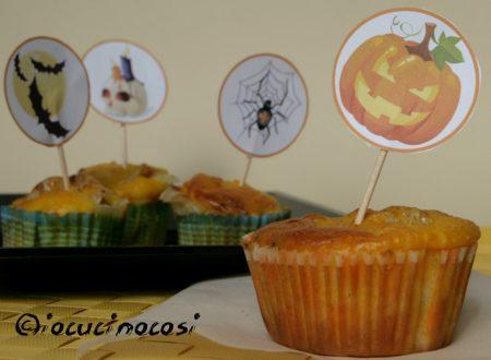 Muffin alla zucca con speck e scamorza – Ricetta sfiziosa – Idea per Halloween