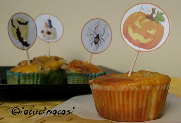 Muffin alla zucca con speck e scamorza - Ricetta sfiziosa