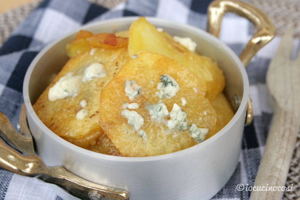 Patate mpacchiuse al gorgonzola
