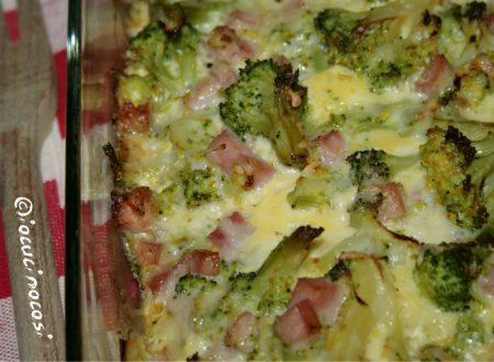 Sformato di broccoli con prosciutto cotto e uova