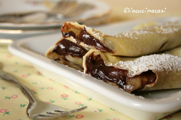 Crepes al Grand Marnier e cioccolato fondente