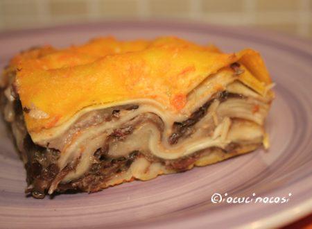 Lasagna con zucca e radicchio