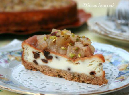 Cheesecake ricotta e pere – Ricetta al forno e a freddo