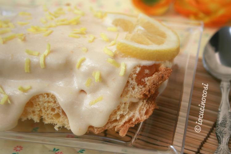 Colomba farcita con crema al limone