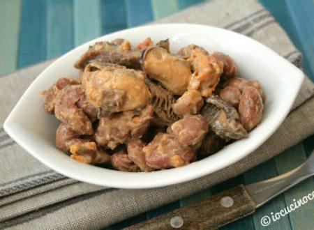Cozze e fagioli con porcini