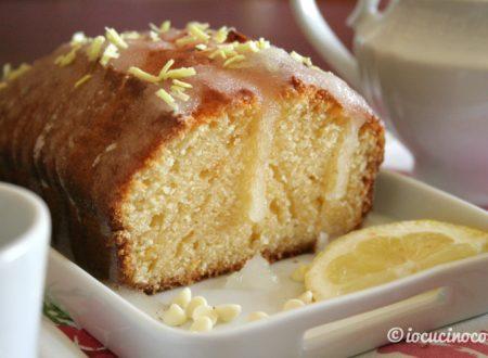 Plumcake al limone e cioccolato bianco glassato