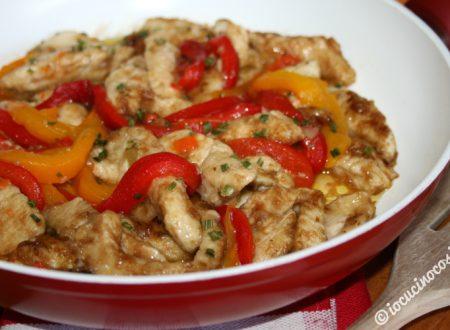 Pollo e peperoni al balsamico