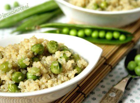 Quinoa con piselli al curry