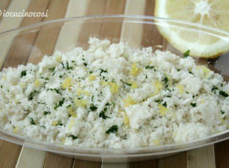 Panure al limone per gratinare il pesce