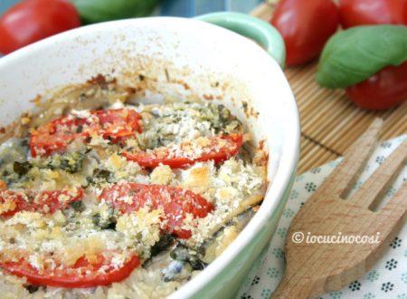 Tortino di alici con erbette e pomodorini