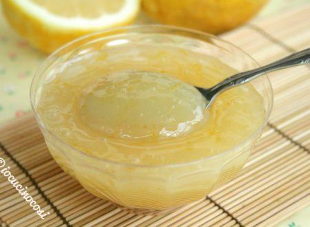 Crema al limone leggera – senza burro latte e uova