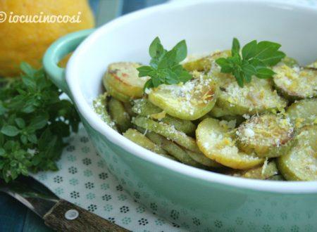 Zucchine limone e basilico in padella
