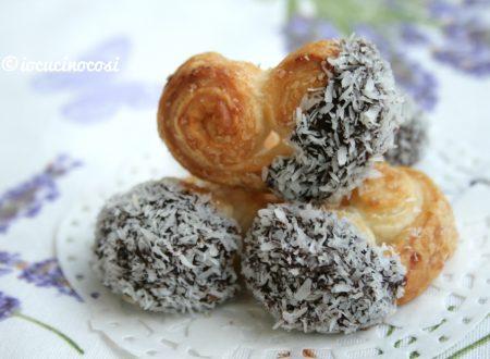 Ventaglietti di sfoglia ciocco-cocco facilissimi