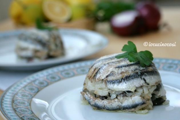 Tortino di alici e riso alla mediterranea