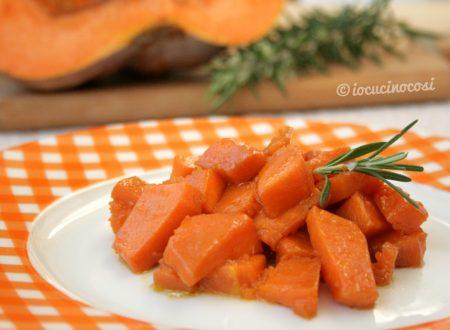 Zucca al rosmarino in padella, ricetta vegana