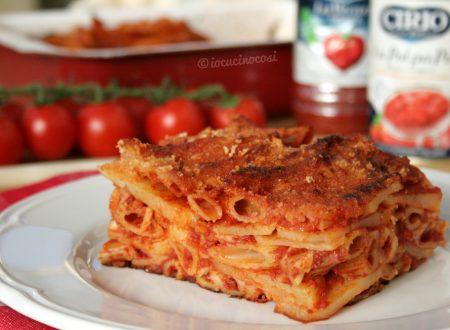 Pasta e patate ara tijeddra – Ricetta al forno alla cosentina