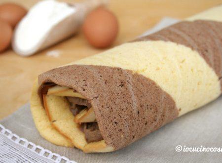Pasta biscotto al cioccolato bicolore