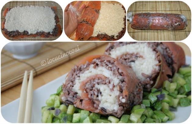 Big Sushi Roll - Rotolo di riso con salmone e zucchine