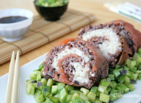 Big Sushi Roll – Rotolo di riso con salmone e zucchine