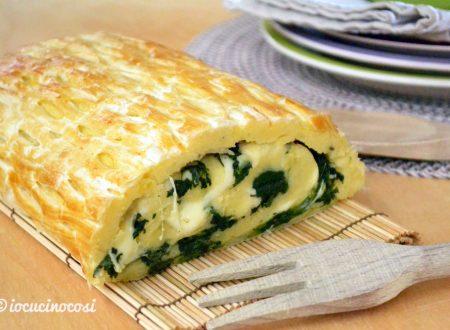 Rotolo di patate e spinaci in sfoglia