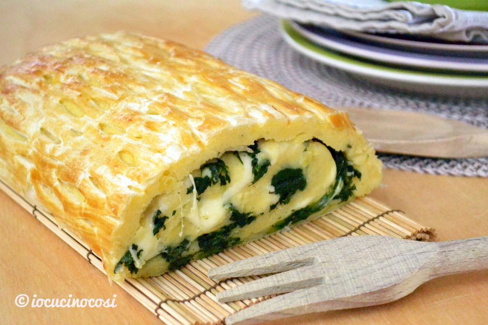 Ricetta rotolo pasta sfoglia con spinaci