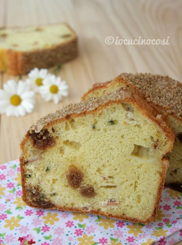 Cake rustico con prosciutto, fichi e Gran Mugello