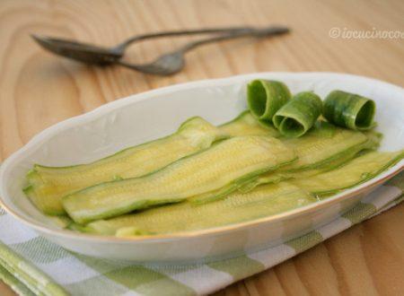 Carpaccio di zucchine, versione classica e vegana