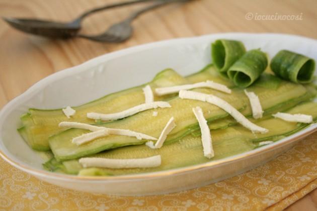Carpaccio di zucchine con tofu