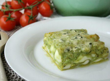 Lasagna al pesto e gorgonzola