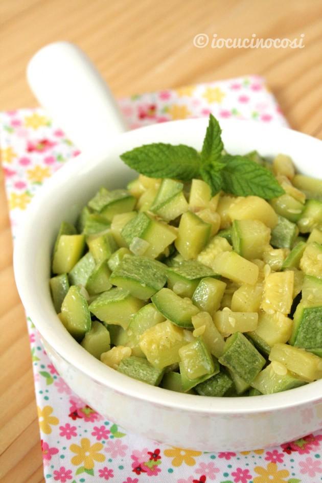 Zucchine al curry e menta