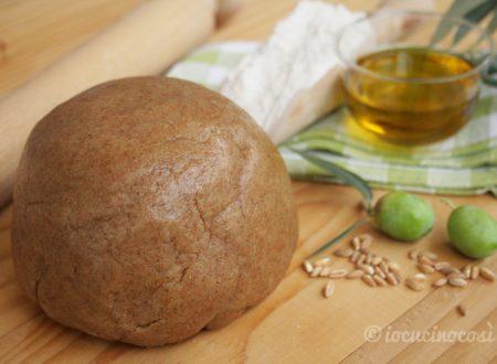 Pasta frolla al farro con olio extravergine di oliva, ricetta di Montersino