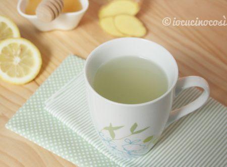Tisana allo zenzero, limone e miele