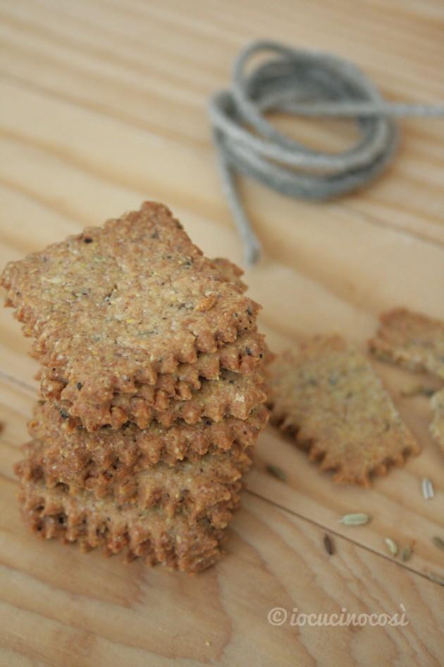 Cracker al parmigiano e semi di finocchio