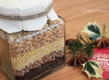 Preparato per zuppa di lenticchie e cereali – Ricetta in barattolo da regalare
