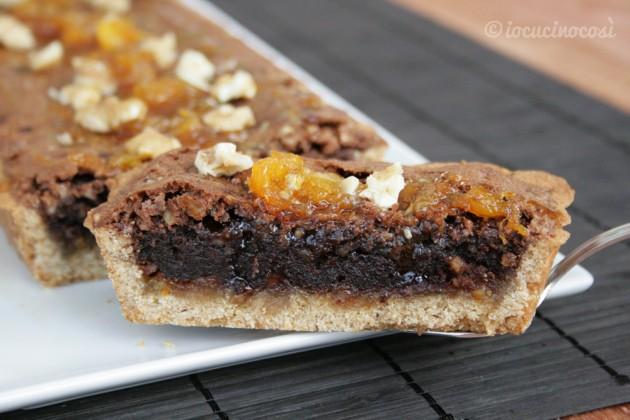Crostata brownies all'arancia