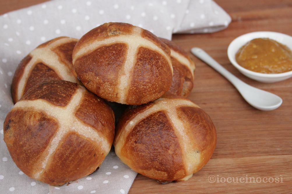 Hot Cross Buns - Panini dolci con uvetta