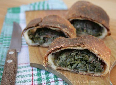 Rotolo con verdure e pesto di olive e acciughe