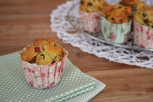 Muffin piselli, funghi e prosciutto