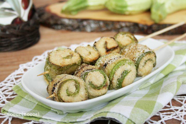 Spiedini di zucchine farcite io cucino cos - Cucinare le zucchine in modo dietetico ...
