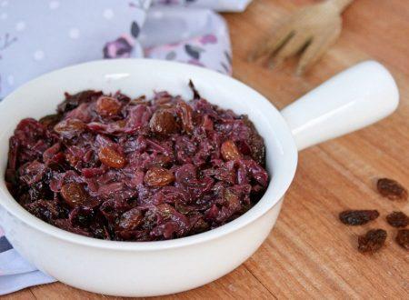 Radicchio in agrodolce con cipolla e uvetta