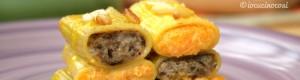 Gigantoni ripieni all'Asiago e salsa allo zafferano