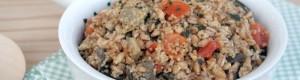 Farro e cous cous con melanzane e pomodorini