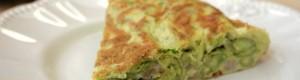 Frittata di fave con pancetta, pecorino e finocchietto selvatico