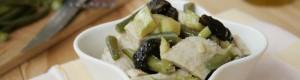 Insalata di pollo con zucchine e fagiolini