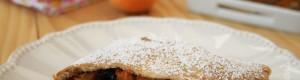 Strudel di albicocche, nocciole e amarene